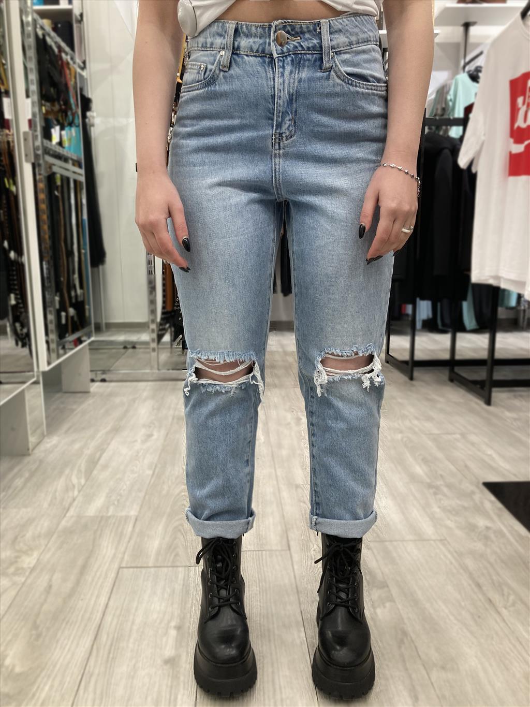 Jeans regular strappato