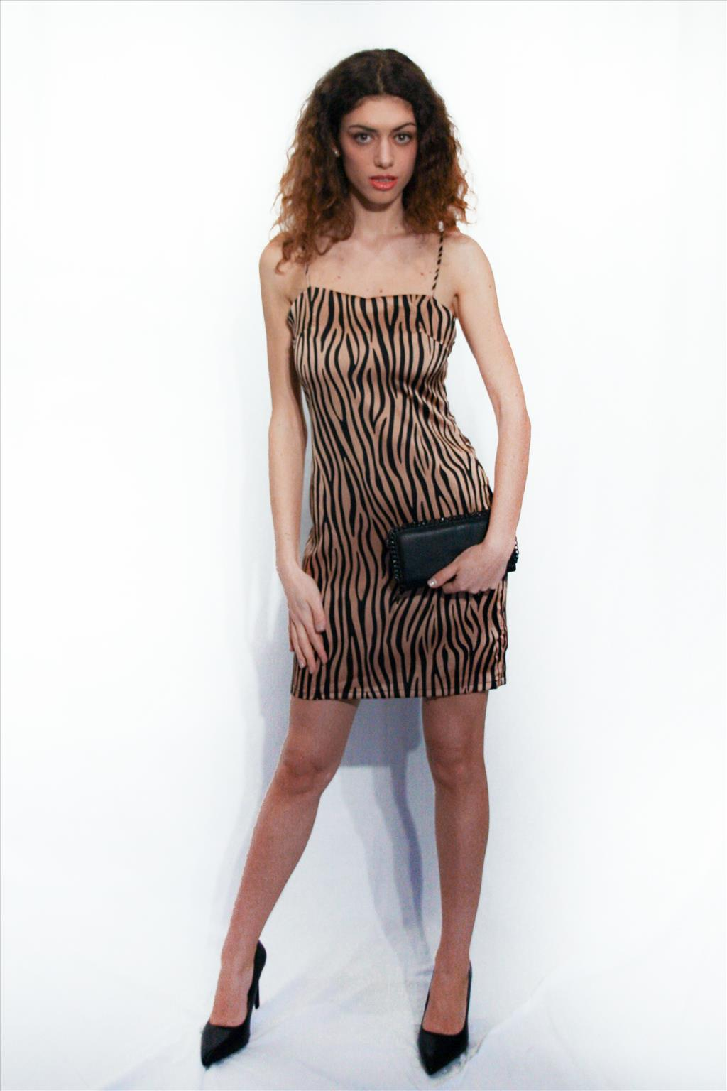 Mini abito zebrato