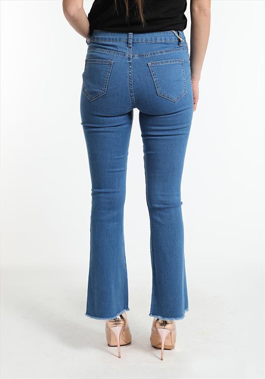 Jeans zampa sfrangiato