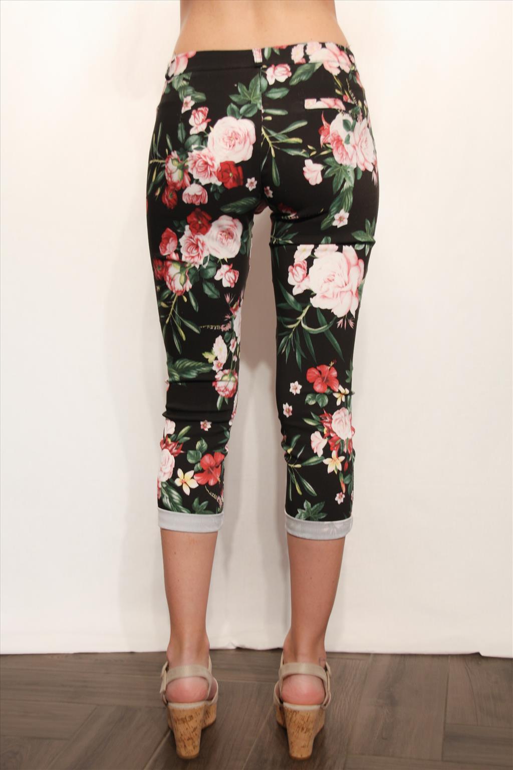 Pantalone fiorato