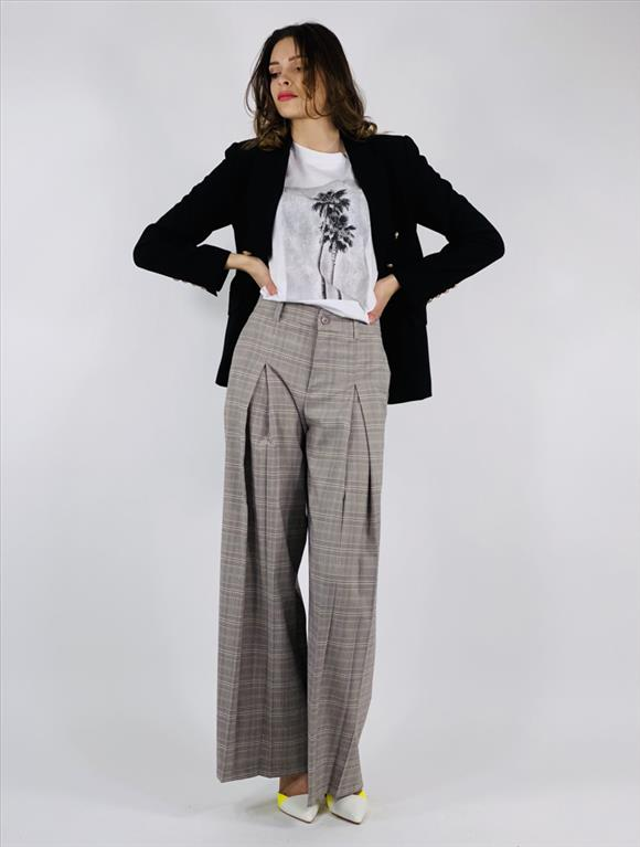 Pantalone ampio quadri