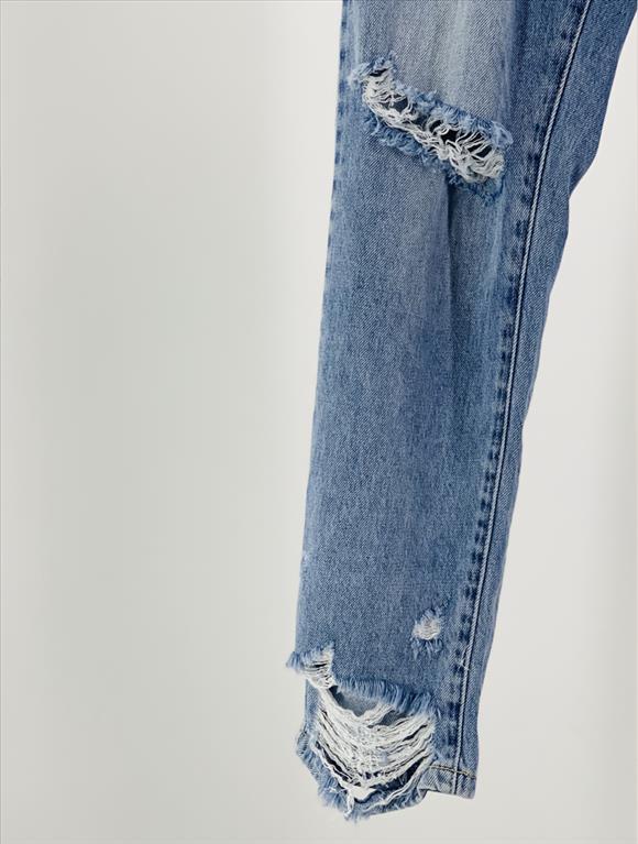 Jeans boyfriend destroyed